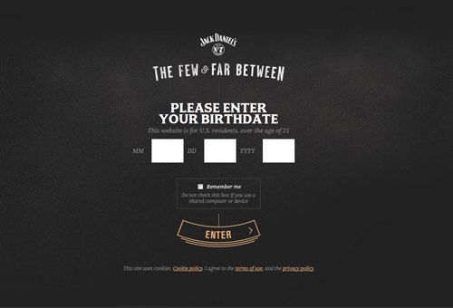 Jack Daniels Bars with Crescent Entry CTA Button