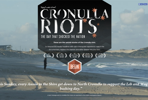 Cronulla Riots with Rhombus Enter Button