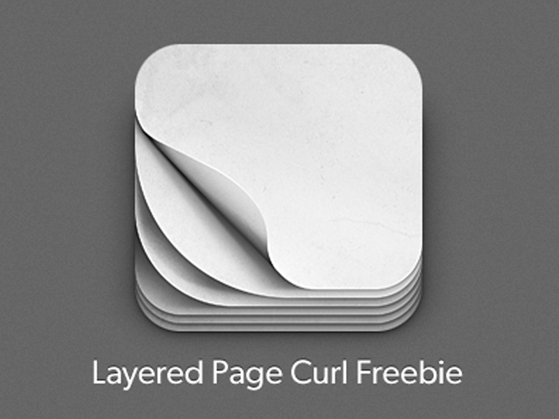 iOS Pagecurl Icon Freebie