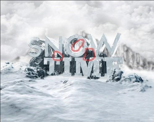 snowy 3d text tutorial psdvault 26 Create 3D Snow Text Effect Using Cinema4D and Photoshop