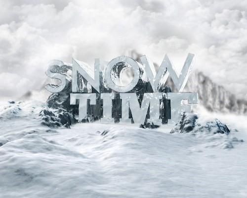 snowy 3d text tutorial psdvault 27 Create 3D Snow Text Effect Using Cinema4D and Photoshop