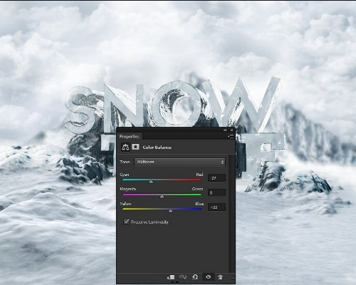 snowy 3d text tutorial psdvault 28 Create 3D Snow Text Effect Using Cinema4D and Photoshop
