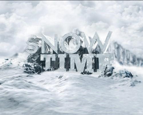 snowy 3d text tutorial psdvault 29 Create 3D Snow Text Effect Using Cinema4D and Photoshop