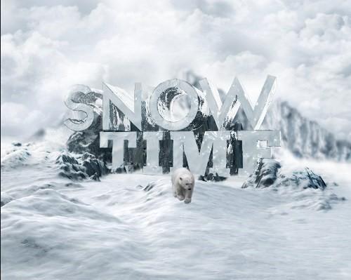 snowy 3d text tutorial psdvault 30 Create 3D Snow Text Effect Using Cinema4D and Photoshop