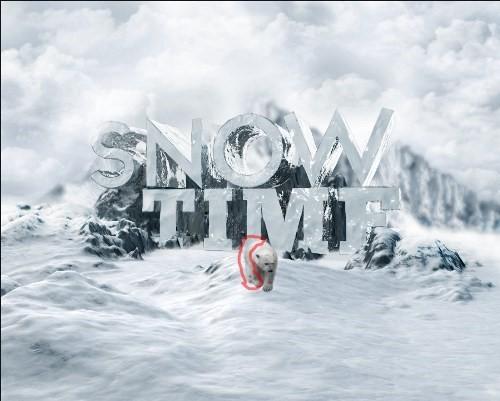snowy 3d text tutorial psdvault 31 Create 3D Snow Text Effect Using Cinema4D and Photoshop