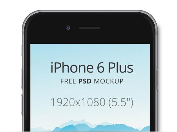 iPhone 6 Plus Free PSD Mockup by Oleg Sukhorukov
