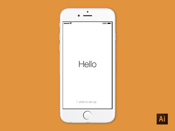 iPhone 6 Illustrator Mockup Download by Dave Stadler