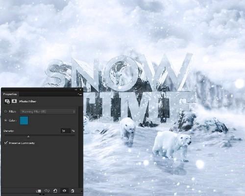 snowy 3d text tutorial psdvault 52 Create 3D Snow Text Effect Using Cinema4D and Photoshop
