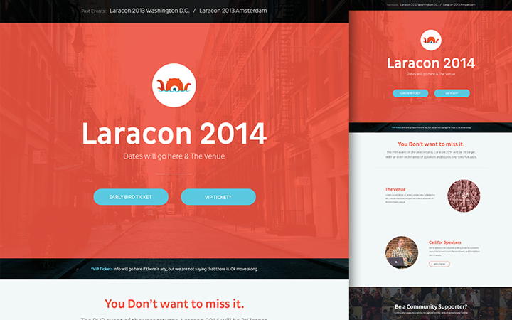 laracon 2014 flat website conference
