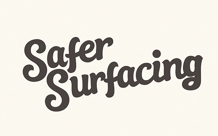 hand writing lettering safer surfacing logo
