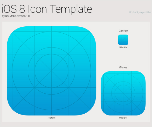 iOS 8 Icon Template PSD