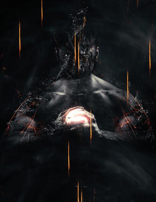 Man Portrait into Dark Wizard in Photoshop Tutorial