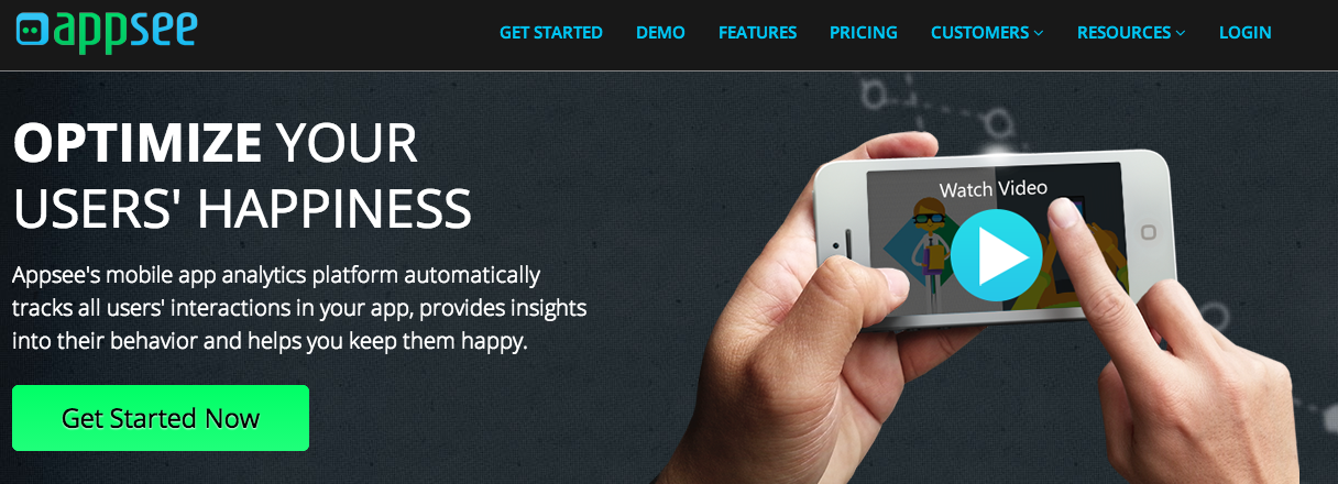 Appsee is an analytics software for your mobile apps