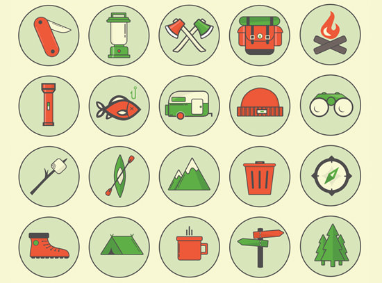 camping-outdoor-icons