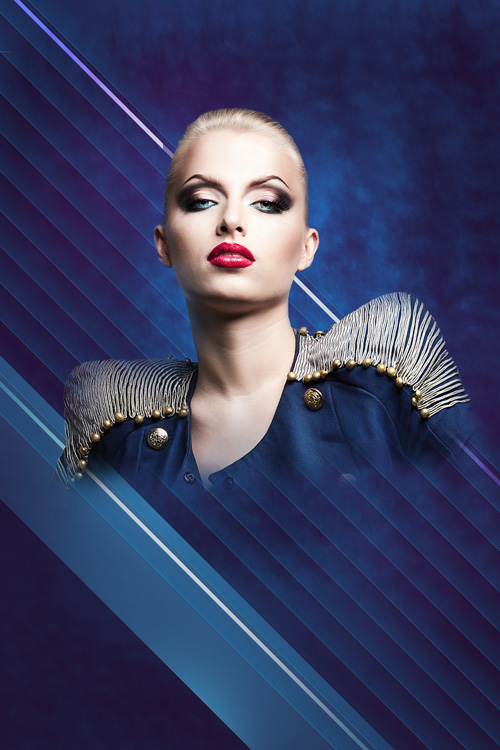Create fashion-inspired digital collage in Adobe Photosop CS6