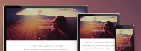 Tesselatte - A free responsive site template