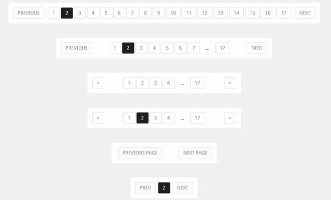 css3 responsive pagination code