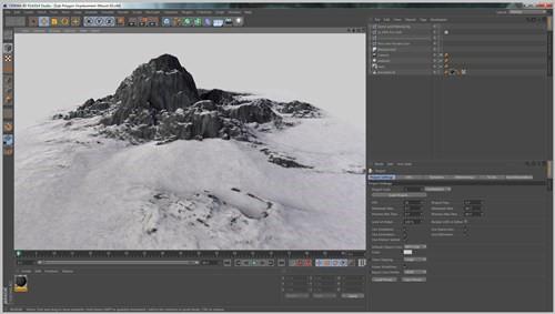 snowy 3d text tutorial psdvault 3 Create 3D Snow Text Effect Using Cinema4D and Photoshop