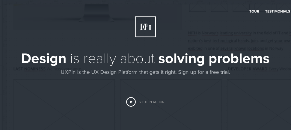 UXPin allows you to create interactive wireframes and prototypes