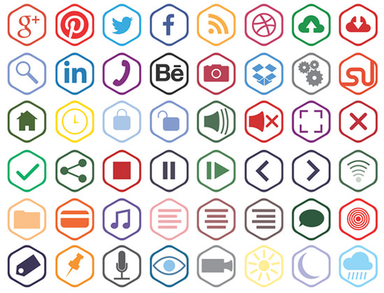 outline-hex-icons