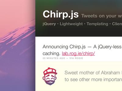 Chirp js
