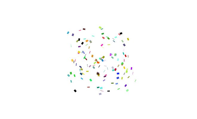 party confetti animated effect loader