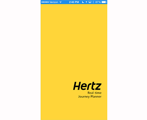 Pauly Ting's prototype for a Hertz Gold mobile app.