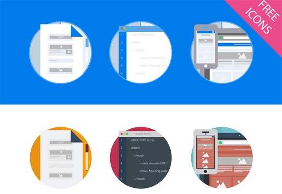 Abandon Skeuomorphism with these 30 Free Icon Sets in Flat Design