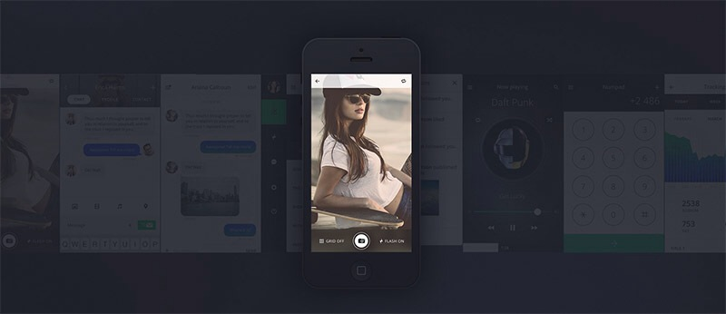 TETHR – The Most Beautiful iOS Design Kit Indeed!