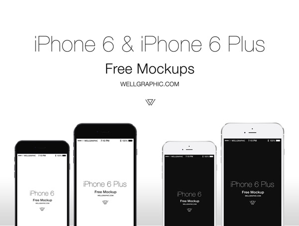 Apple iPhone 6 & iPhone 6 Plus Mockup PSD by Pontus Wellgraf