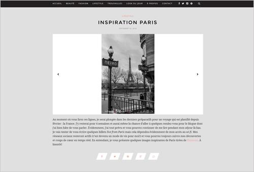 Le Blogue de Julie Lafrance with Unusual Social Media Icons