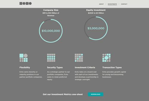 Eco Capital Group with Tetris-like Icons