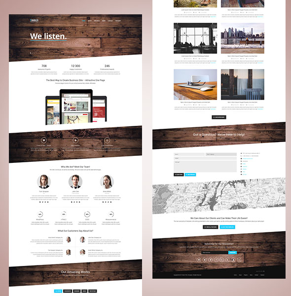 Timber – Free One Page Bootstrap Template