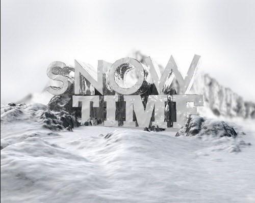 snowy 3d text tutorial psdvault 16 Create 3D Snow Text Effect Using Cinema4D and Photoshop