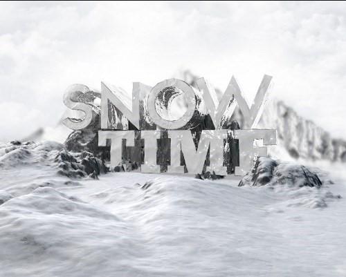 snowy 3d text tutorial psdvault 17 Create 3D Snow Text Effect Using Cinema4D and Photoshop