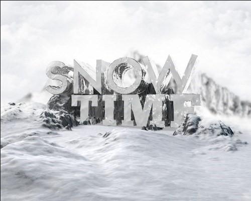 snowy 3d text tutorial psdvault 18 Create 3D Snow Text Effect Using Cinema4D and Photoshop