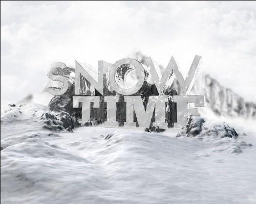 snowy 3d text tutorial psdvault 20 Create 3D Snow Text Effect Using Cinema4D and Photoshop
