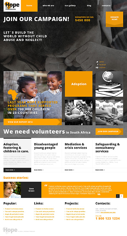 Charity Responsive WordPress Theme