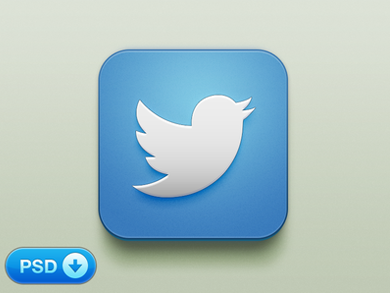 Beautiful Twitter iOS Icon [+PSD]