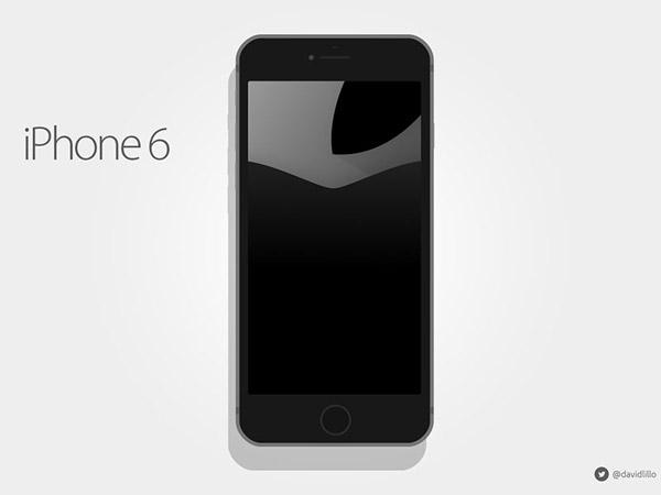 iPhone 6 Flat Mockup by David Lillo