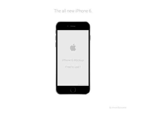 iPhone 6 Mockup by Vivien Bocquelet