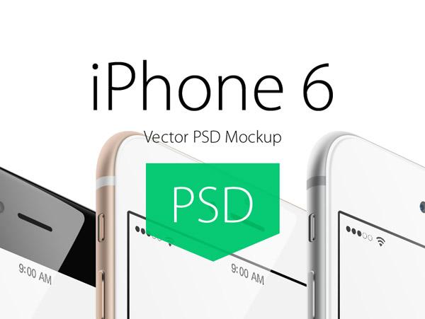 iPhone 6 Free Angled PSD Mockup by Vladislav Litvin