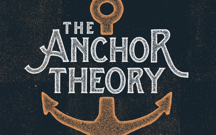 textured bright logo anchor theory design