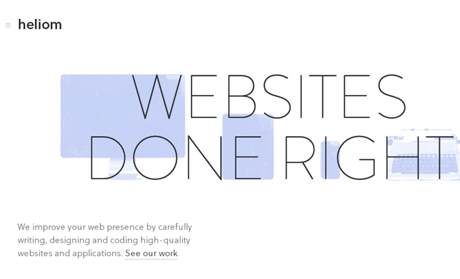 heliom website design done right portfolio