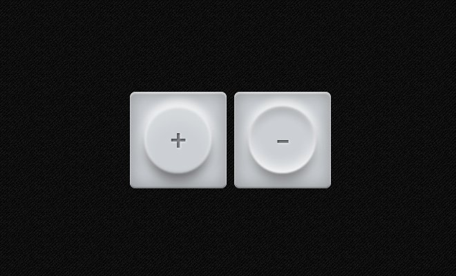 squishy white toggle buttons ui