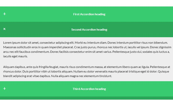 css responsive animated accordion content