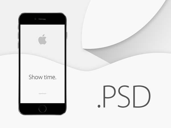 iPhone 6 Mock-Up PSD by Perțe Raul