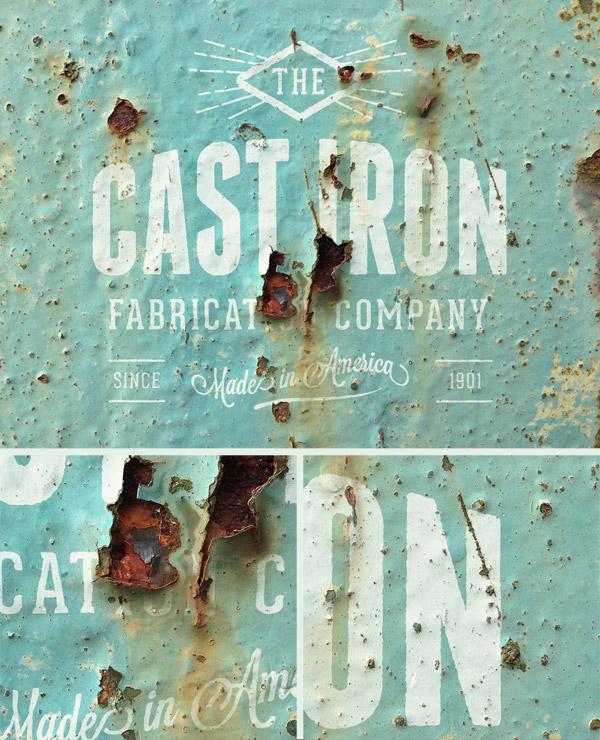 Rusty logo mockup