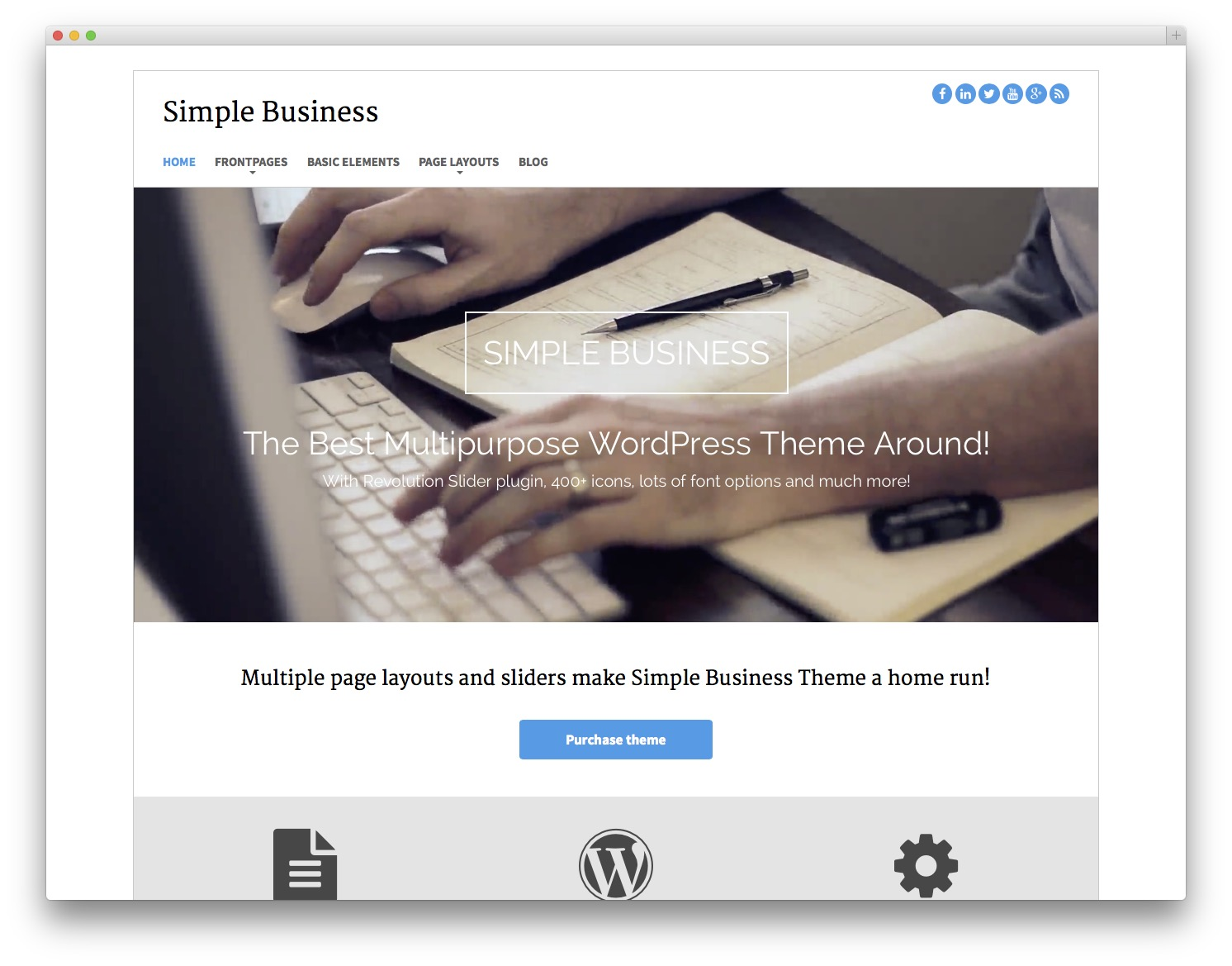 20 best free bootstrap wordpress themes idevie for Wordpress theme with multiple page templates
