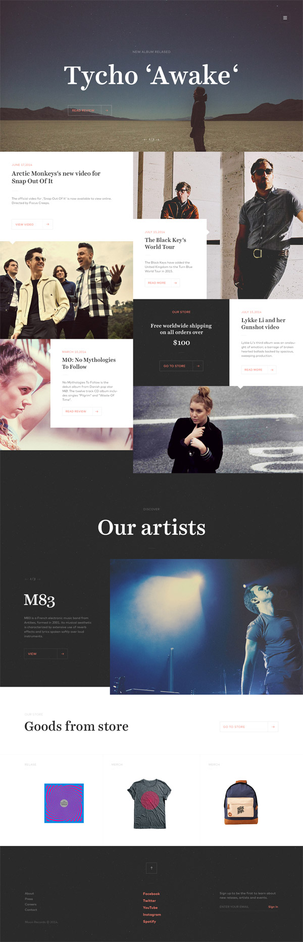 Record Label Website by Jaromir Kveton